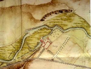 On remarque la tracé prévu du canal de Bourgogne qui ne sera ouvert qu'au 19ème