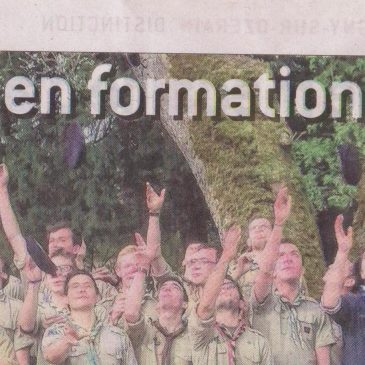 En avril , la Grande forge de Buffon a accueilli un camp de formation de chefs scouts