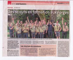 CEP Scout campé à la Grande Forge de Buffon
