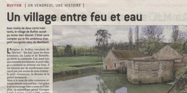 Un bel article sur le village de Buffon et de sa forge