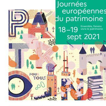 Journées du Patrimoine 2021, 18 et 19 septembre 2021